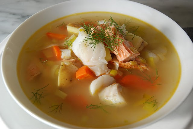 fish soup with leeks and fennel kitchen culinaire
