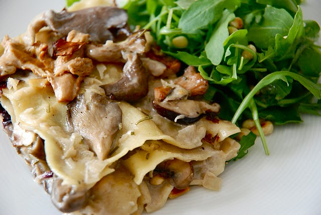 Mushroom Lasagna with Radicchio and Rosemary | Kitchen Culinaire