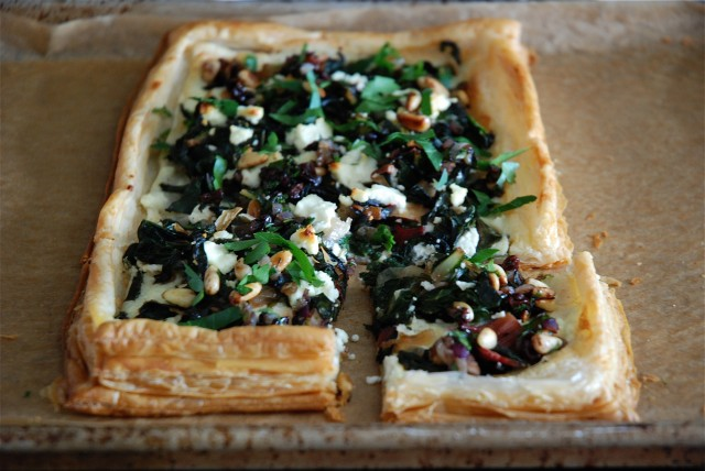 Swiss Chard Tart with Goat Cheese and a Pine Nut, Currant and Parsley ...