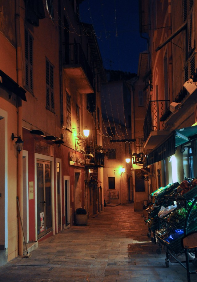 Villefranche at night