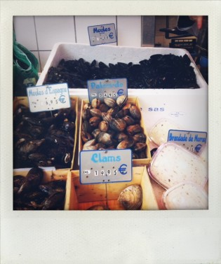 Buying the mussels for todays lunch