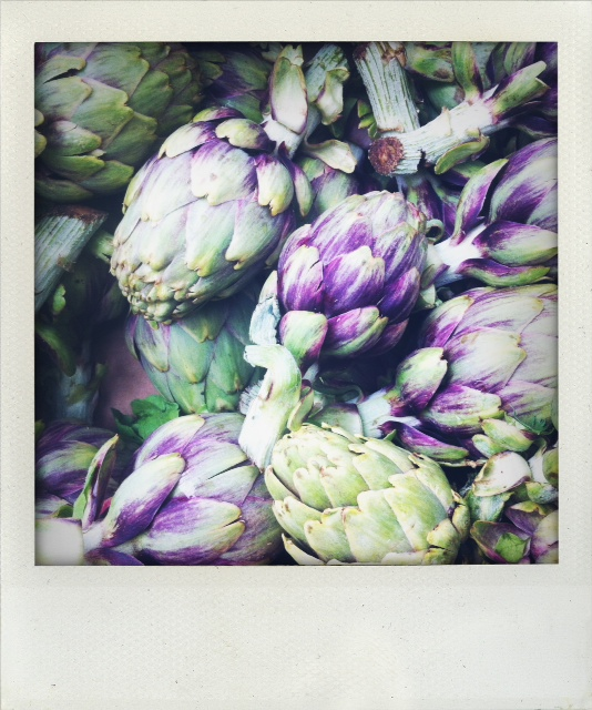 Artichokes at the Sunday Raspail Market