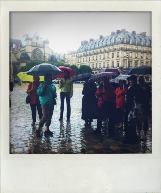 A downpour at the Louvre