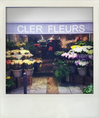 Flowers on Rue Cler