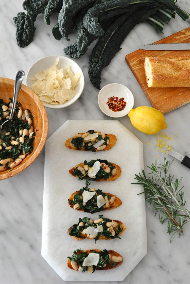 Kale and White Bean Crostini