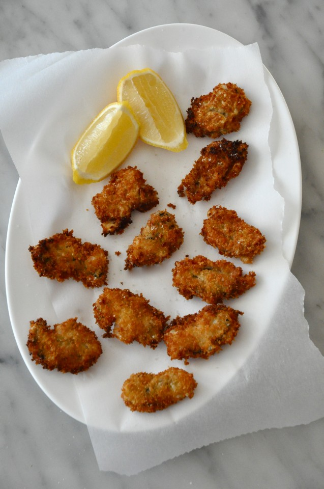 Panko fried Read Island Oysters