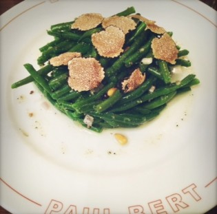 Green beans and summer truffles