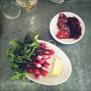 Radishes and salted butter