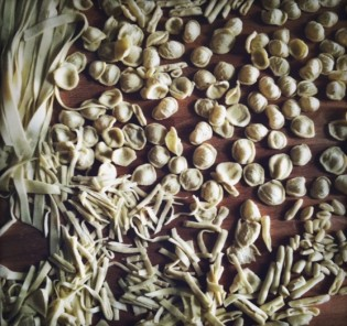 Pasta made by hand with love
