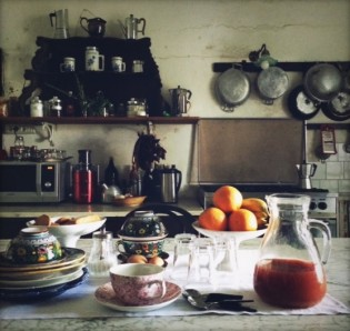 Masseria kitchen - last breakfast